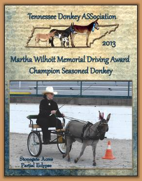 2013 Champion Seasoned Driving Donkey